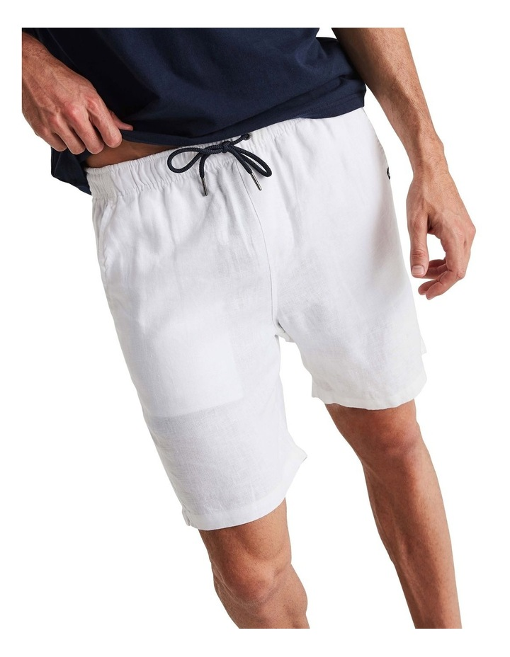 Linen Short in White image 4