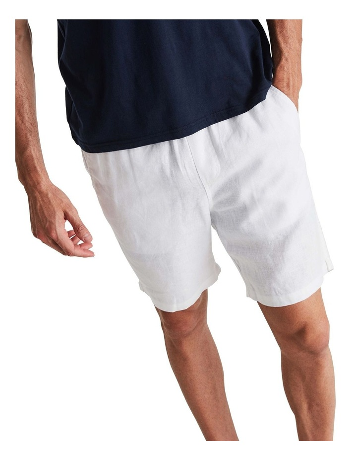 Linen Short in White image 5