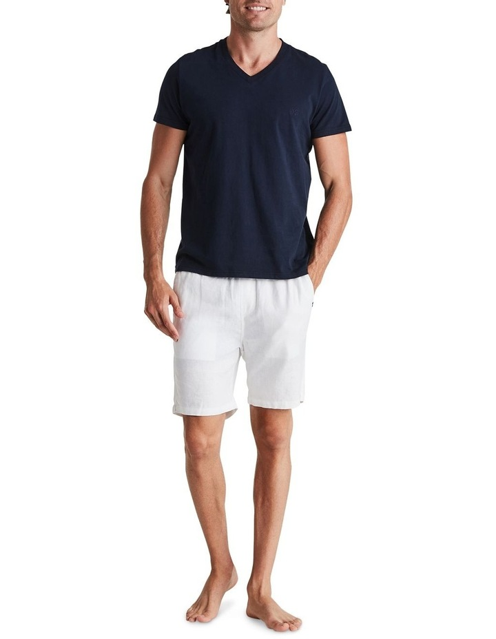 Linen Short in White image 6