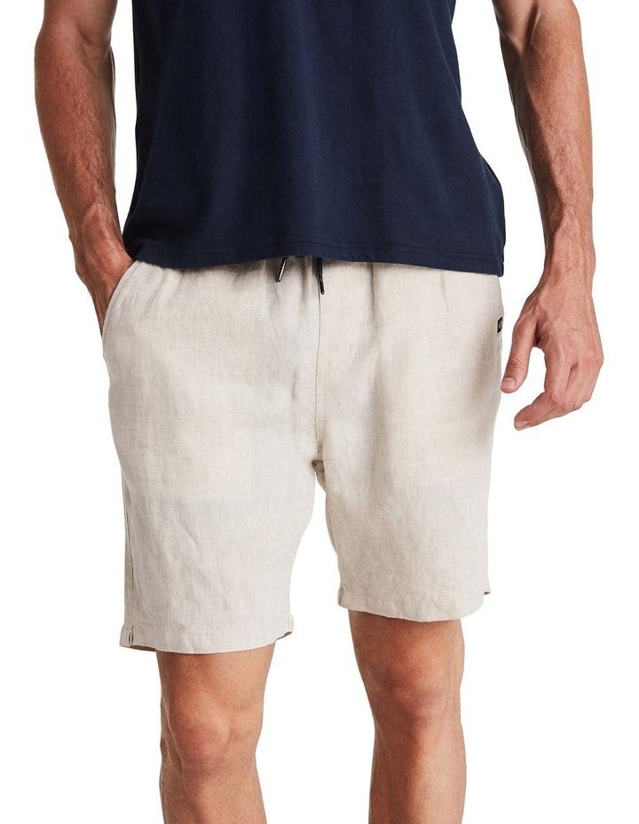 Linen Short in Sand image 1