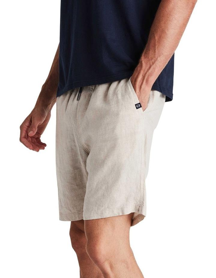 Linen Short in Sand image 2
