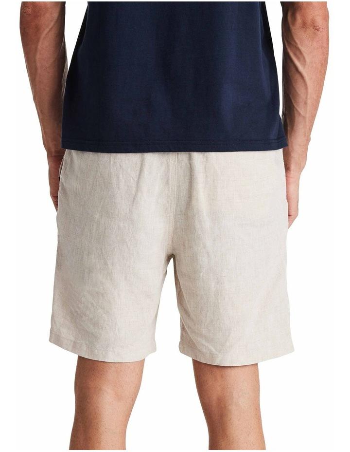 Linen Short in Sand image 3