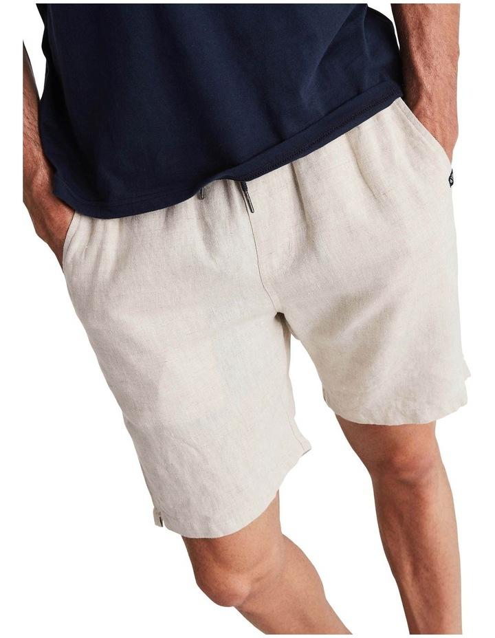 Linen Short in Sand image 5