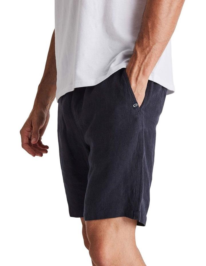 Linen Short in Navy image 2