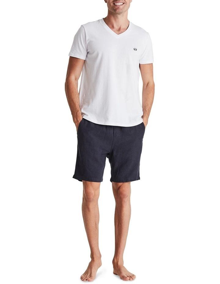 Linen Short in Navy image 5