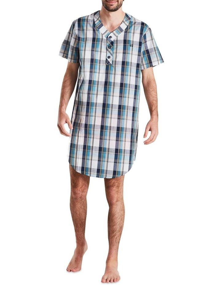 Navy Check Nightshirt Pyjama image 1