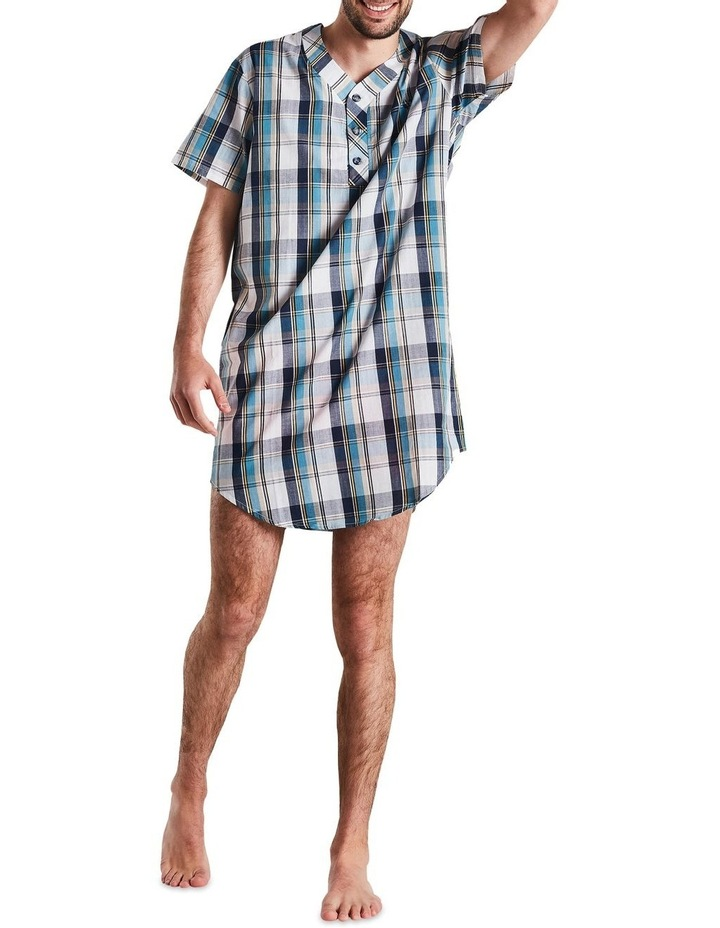 Navy Check Nightshirt Pyjama image 6