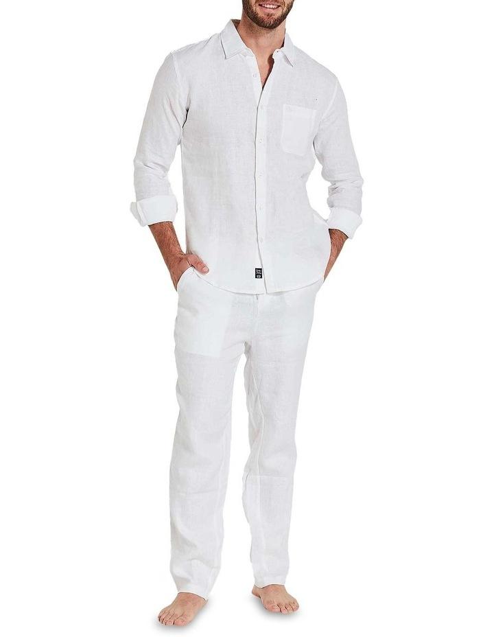 White Linen Pants image 1