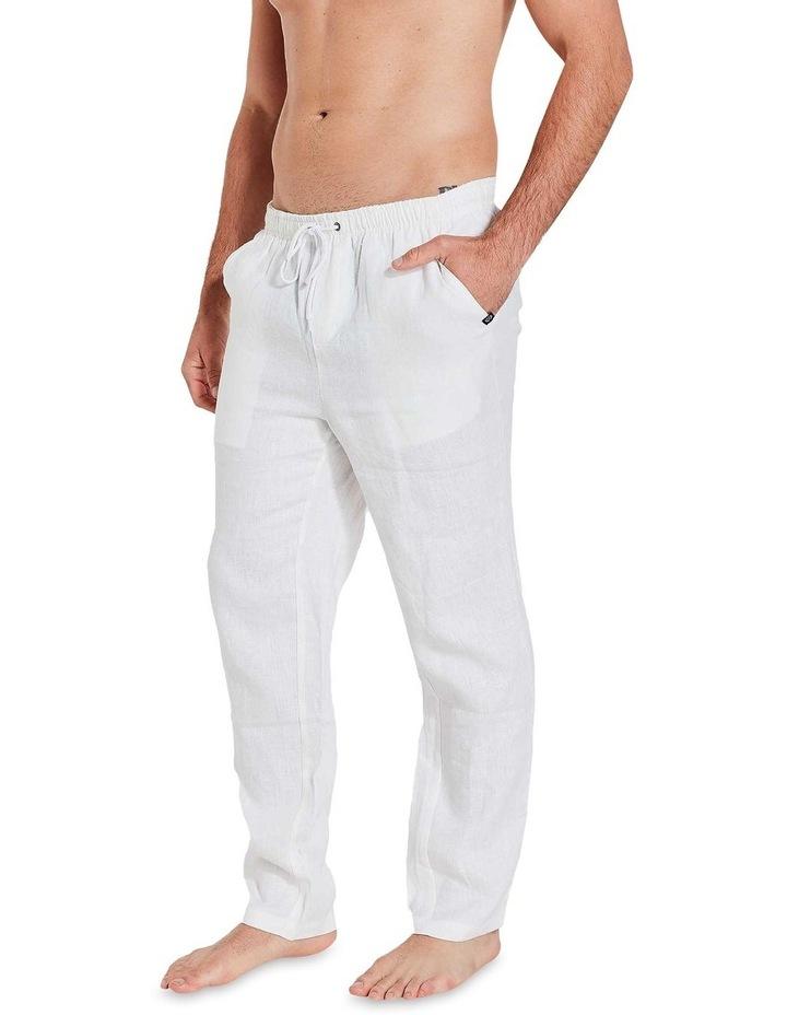White Linen Pants image 2