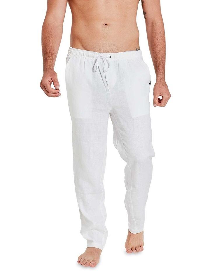 White Linen Pants image 3