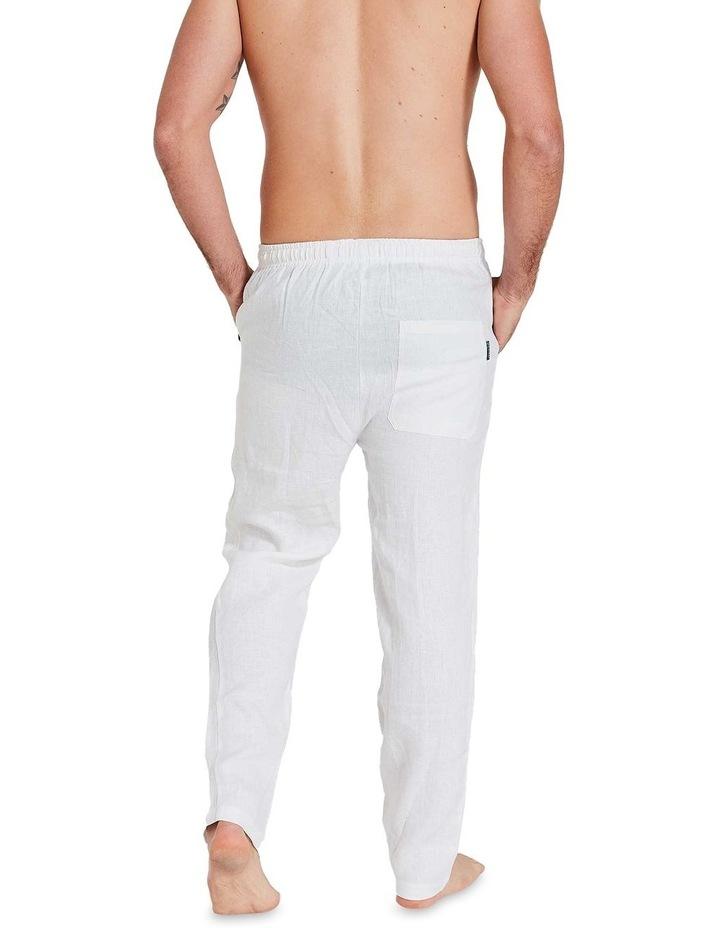White Linen Pants image 4