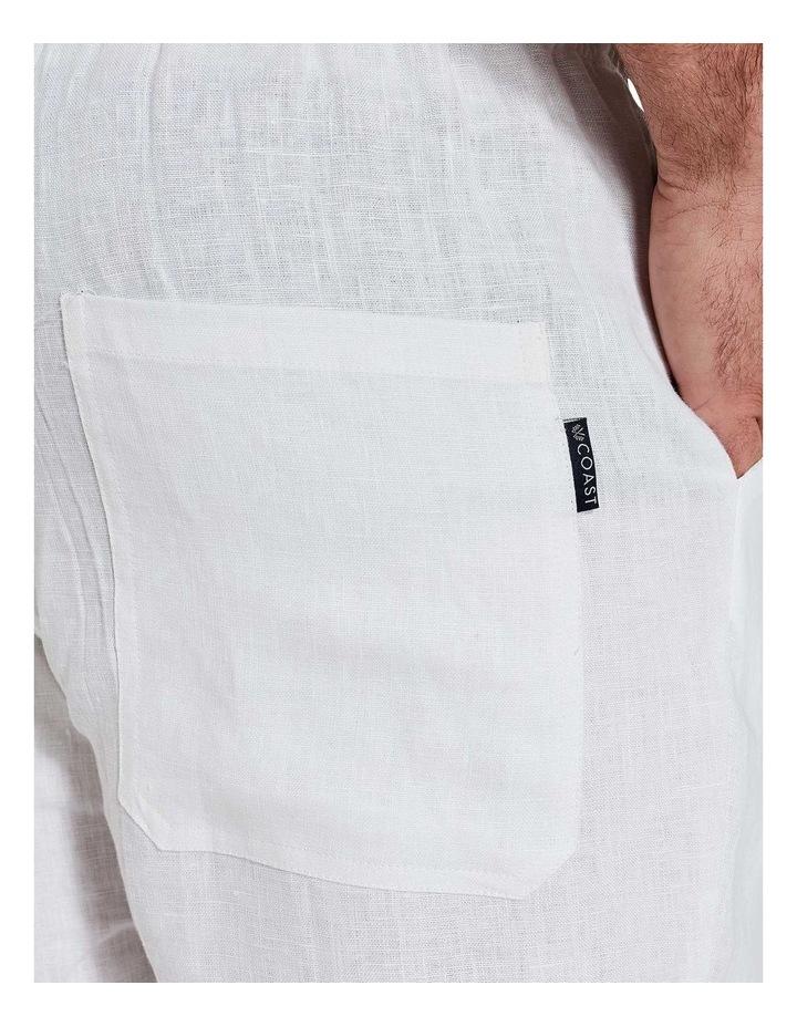 White Linen Pants image 7