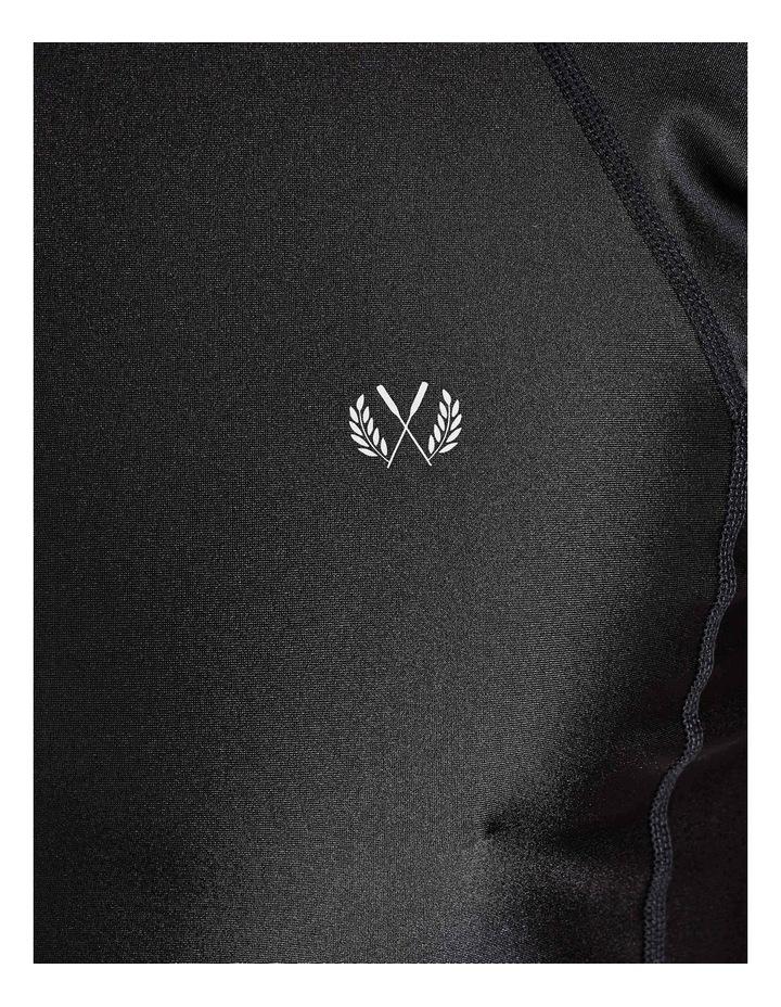 Black Short Sleeve Rash Top image 5