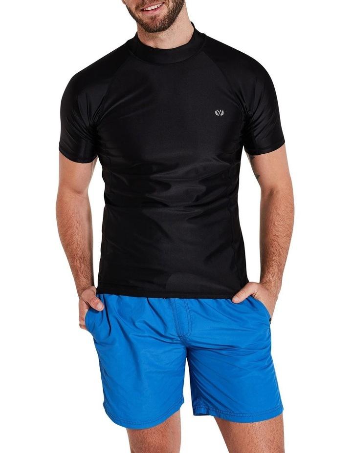 Black Short Sleeve Rash Top image 6