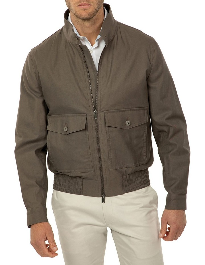 Taupe Bowman Bombers Jacket image 1