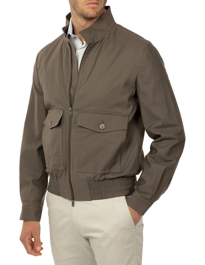 Taupe Bowman Bombers Jacket image 2