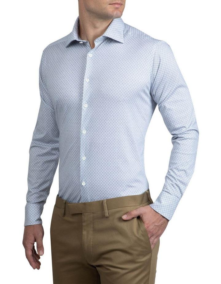 Navy Geometric Bryson Shirt image 2