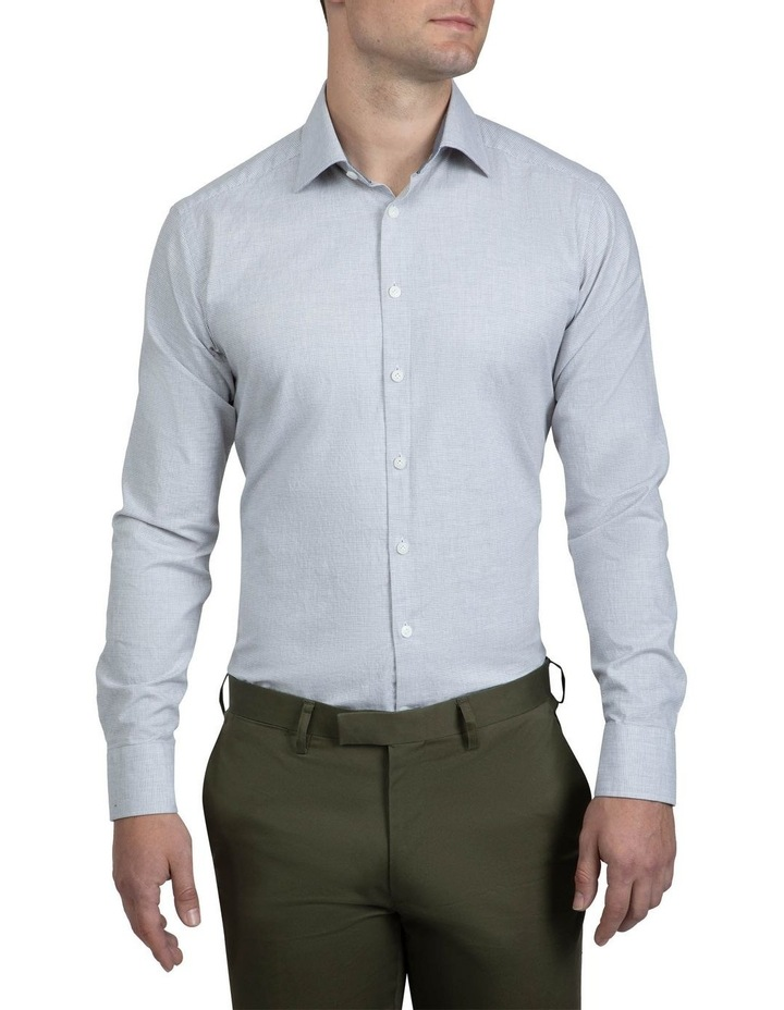 Grey Micro Houndstooth Bryson Shirt image 1
