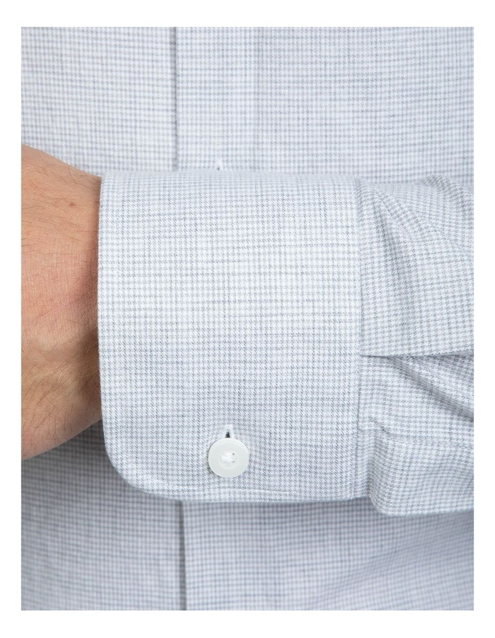 Grey Micro Houndstooth Bryson Shirt image 4
