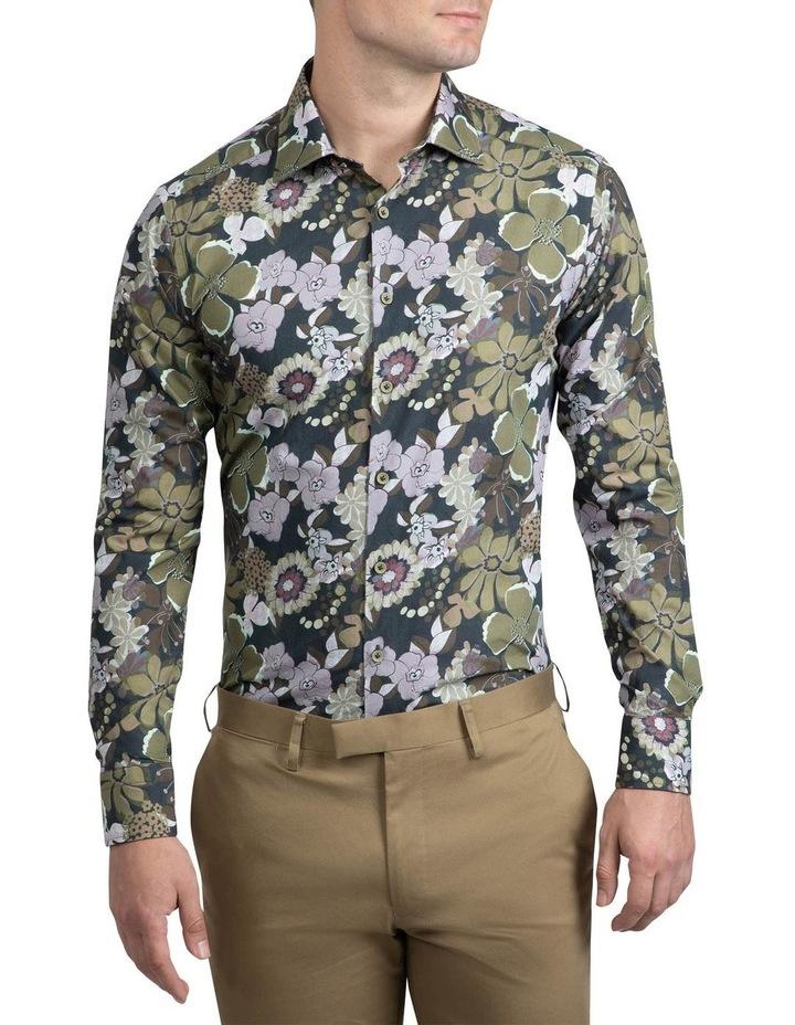 Green Floral Bryson Shirt FAJ719 image 1