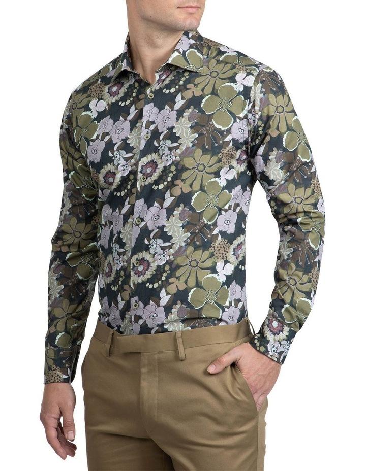 Green Floral Bryson Shirt FAJ719 image 2
