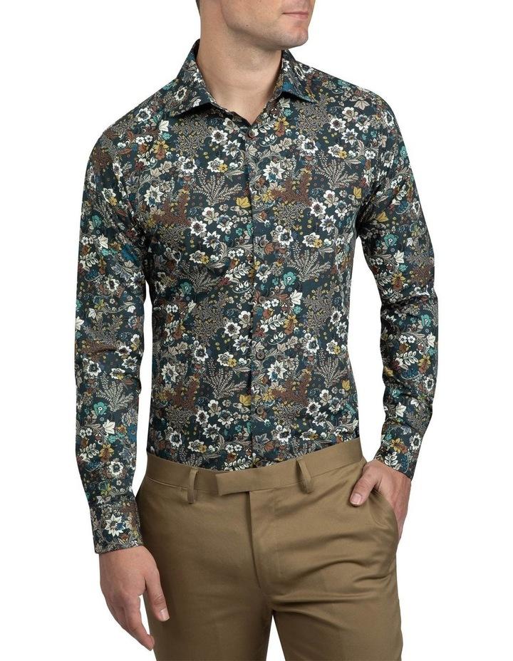 Khaki Floral Bryson Shirt FAJ720 image 1
