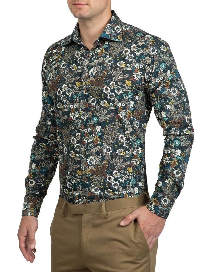 Khaki Floral Bryson Shirt FAJ720 image 2