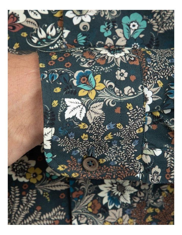 Khaki Floral Bryson Shirt FAJ720 image 4