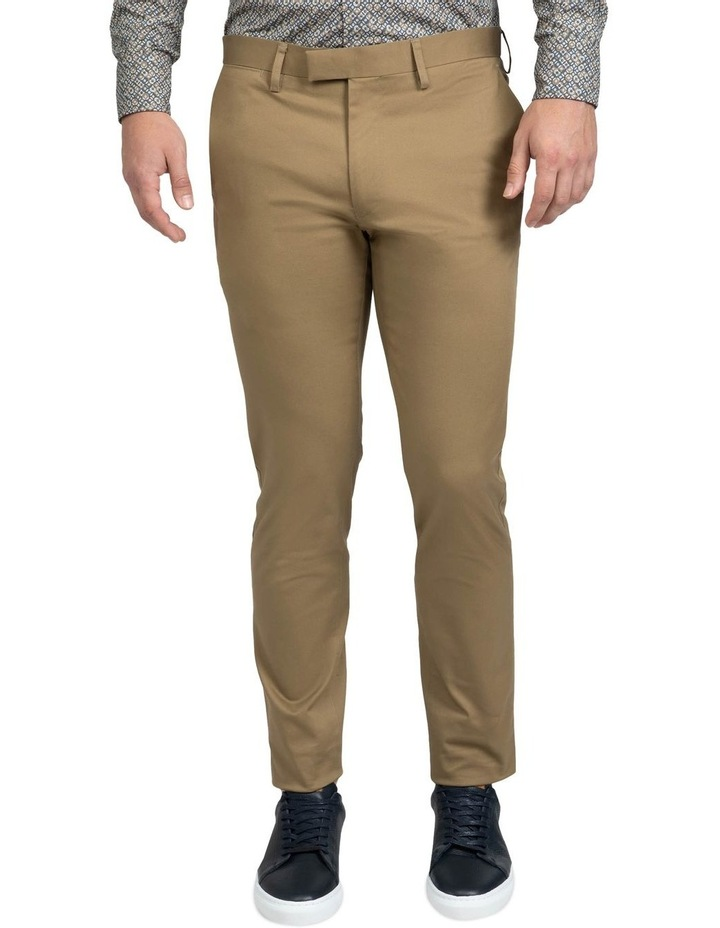 Slim Fit Taupe Luca Chino image 1