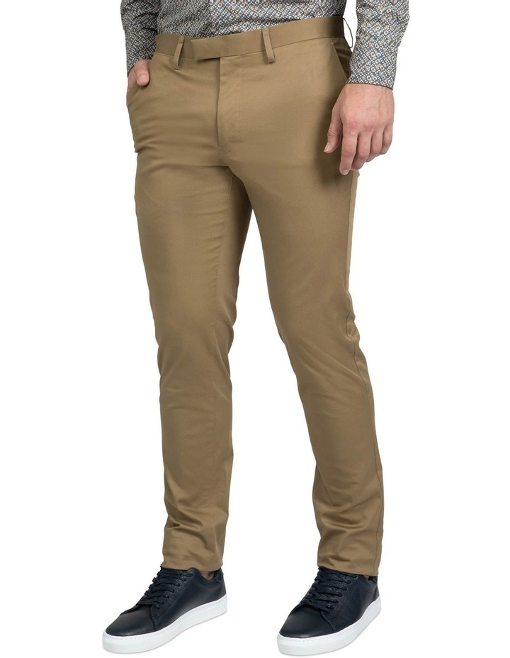 Slim Fit Taupe Luca Chino image 2