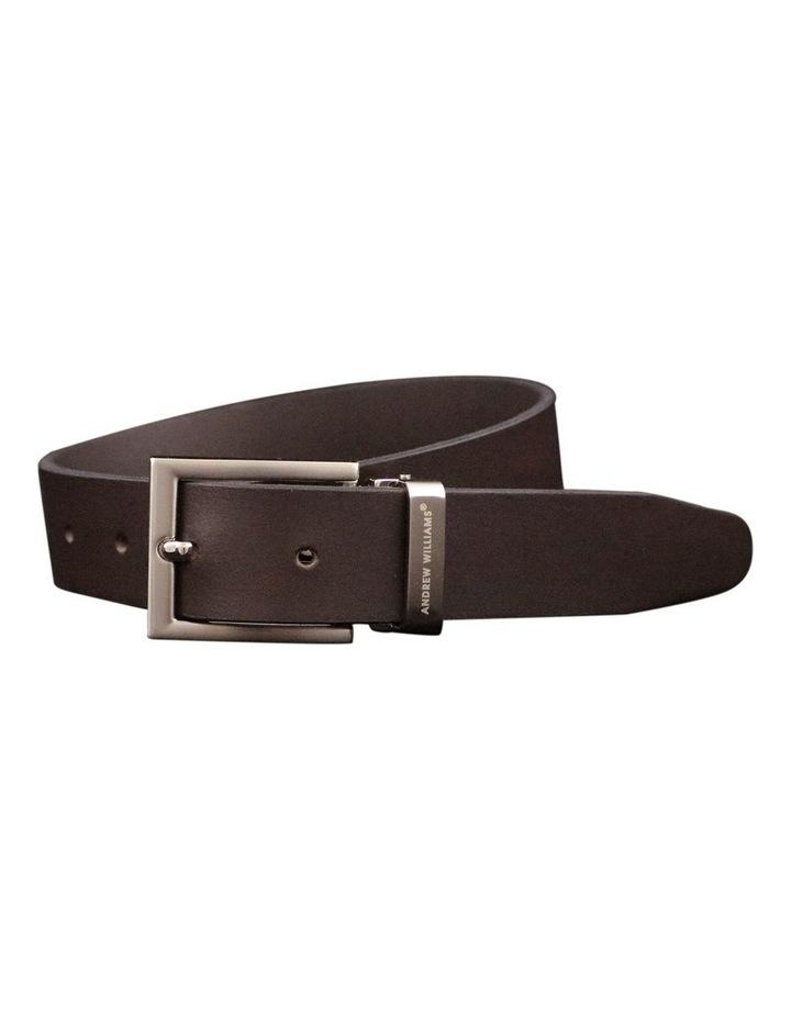 Brown Genuine Leather Belt Australian Made image 1
