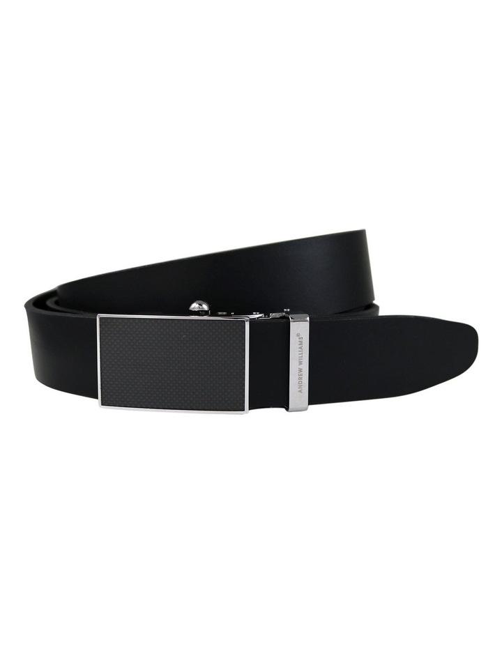 Black Genuine Italian Vegetable Tanned Leather Belt image 1
