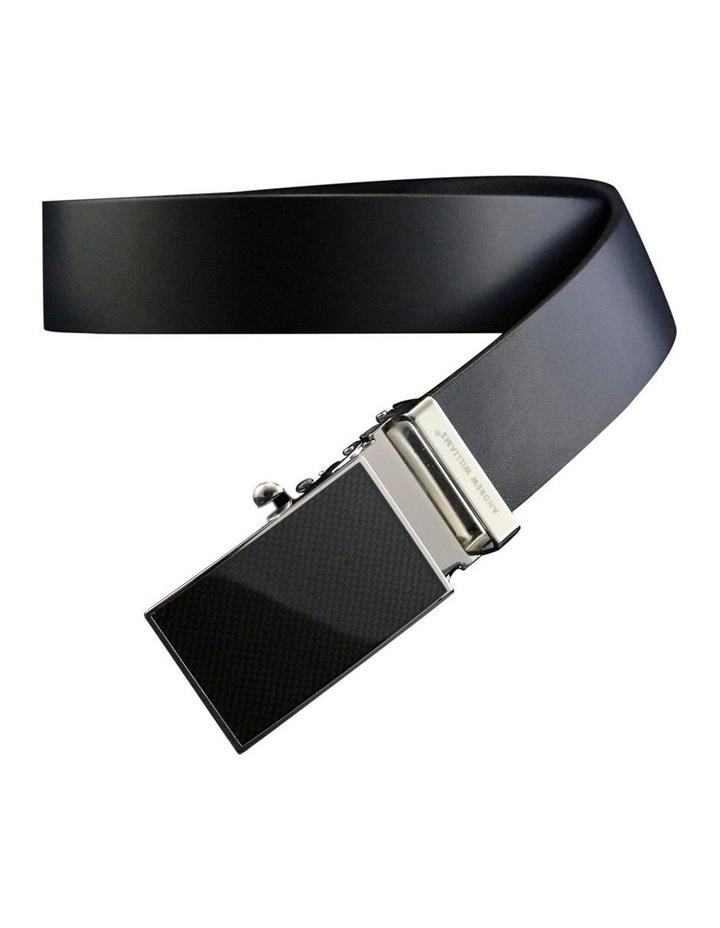 Black Genuine Italian Vegetable Tanned Leather Belt image 2