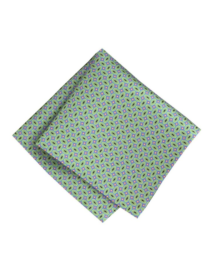 Pure Silk Pocket Square With Motifs image 1