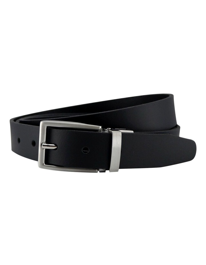 Black Genuine Leather Belt image 1