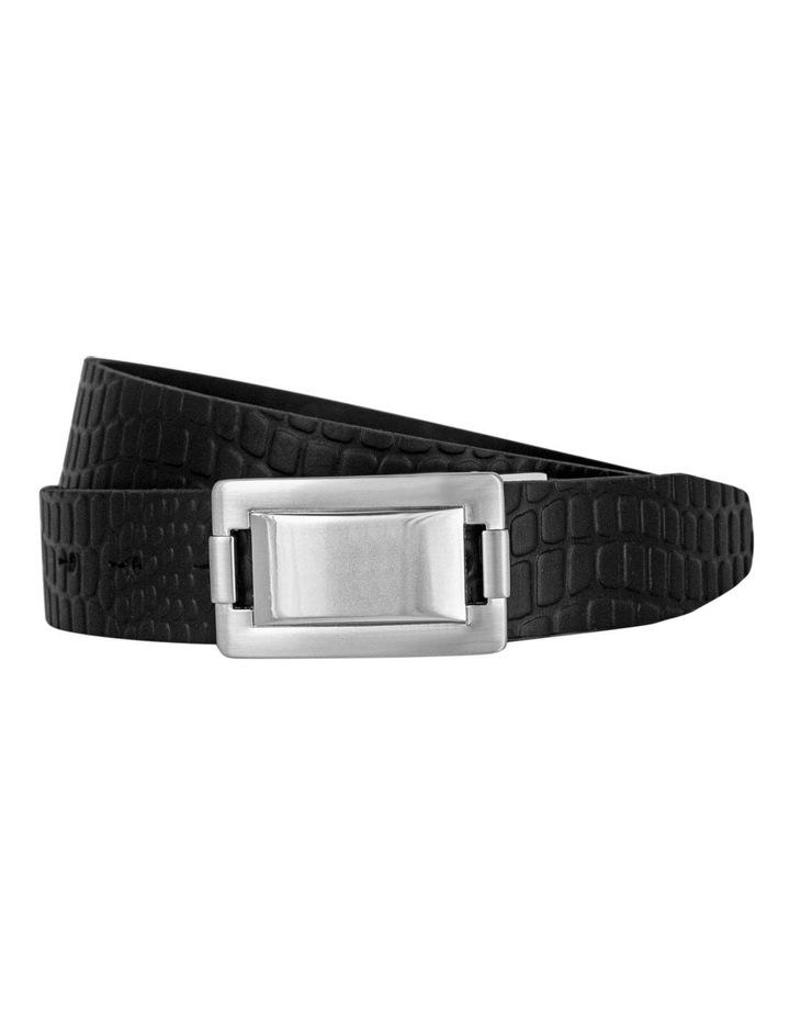 Italian Veg Tan Black Genuine Leather Belt image 1