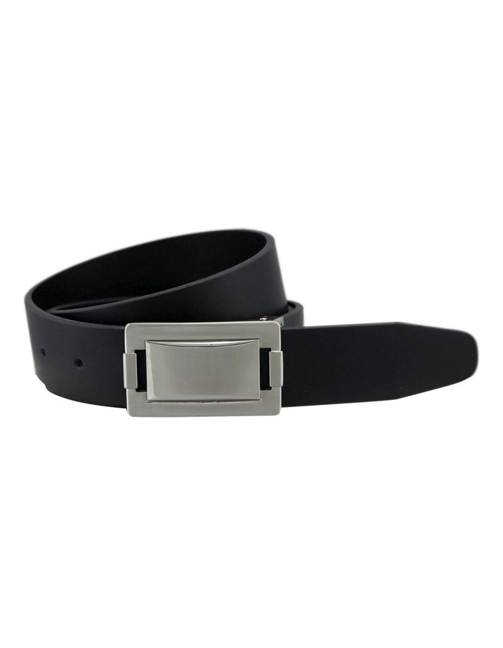 Italian Veg Tan Black Genuine Leather Belt Australian Made image 1
