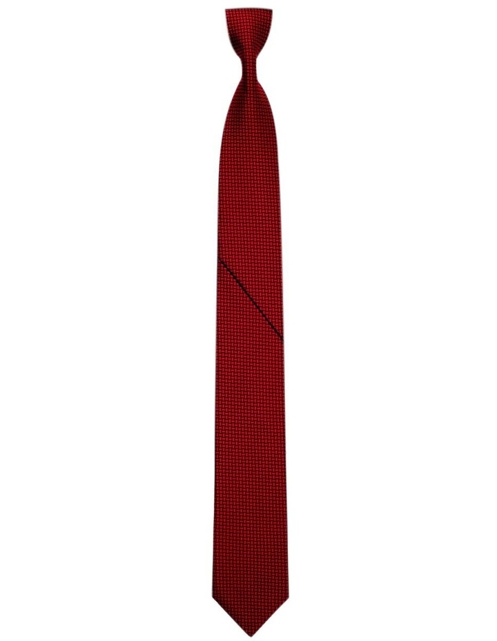 Luxurious Weave Pattern Pleated Tie Australian Made image 1