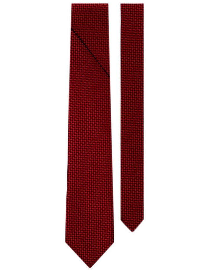 Luxurious Weave Pattern Pleated Tie Australian Made image 2