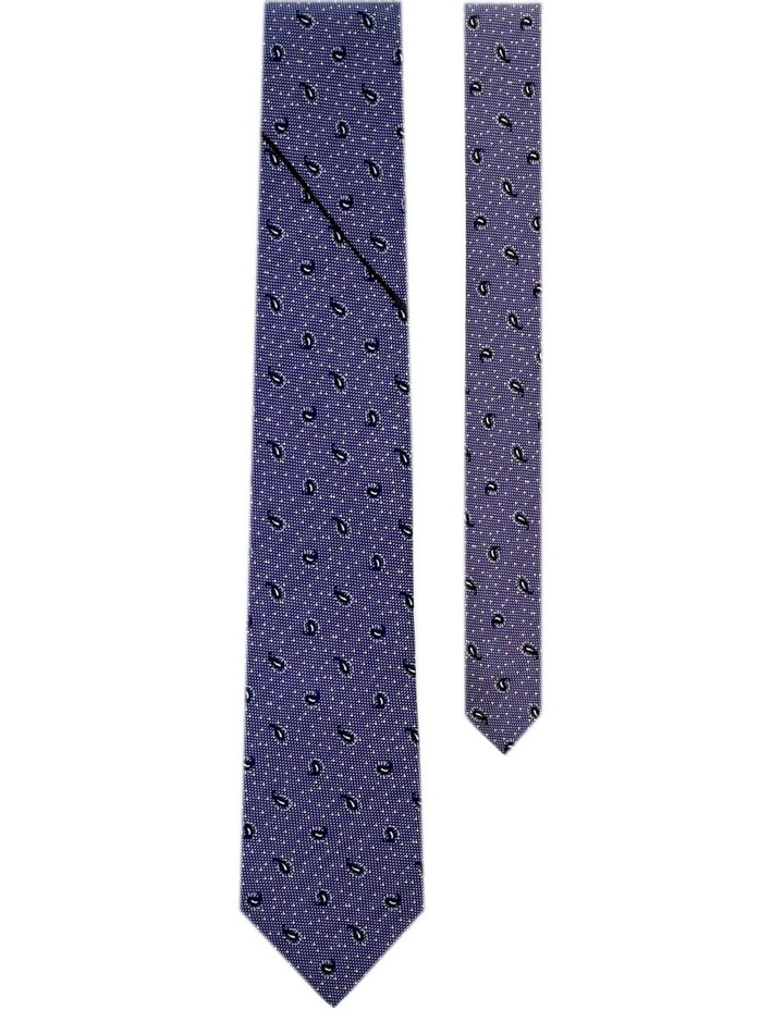 Pleated Tie With Paisleys And Dots Pattern Australian Made image 2