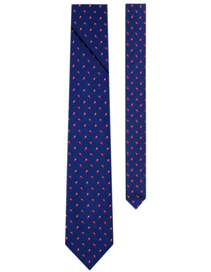 Pleated Necktie With Paisley Pattern Australian Made image 2
