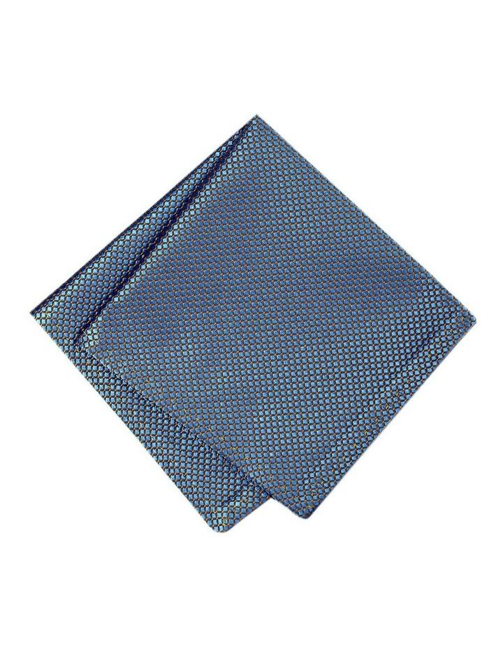 Italian Pure Silk Check Pattern Pocket Square Australian Made image 1