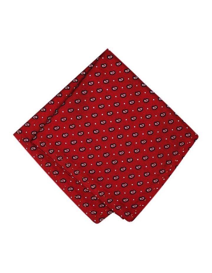Italian Pure Silk Motif And Dots Pattern Pocket Square image 1