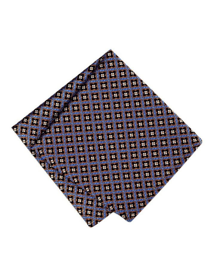 Italian Pure Silk Motif Pattern Pocket Square image 1