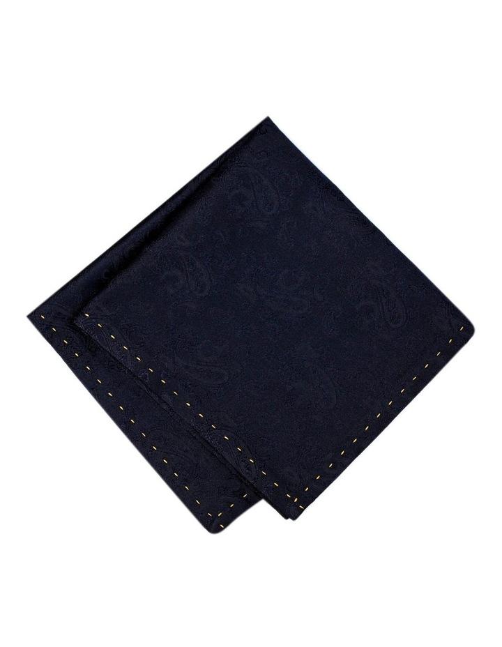 Italian Pure Silk Paisley Pattern Pocket Square image 1