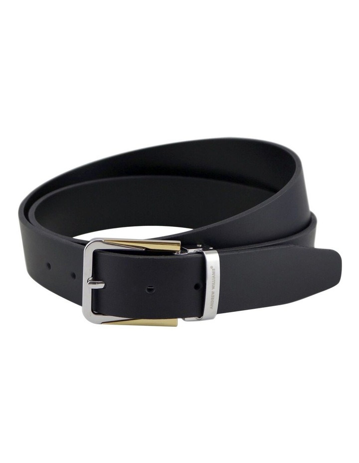 Black Genuine Italian Vegetable Tanned Leather Belt Australian Made image 1