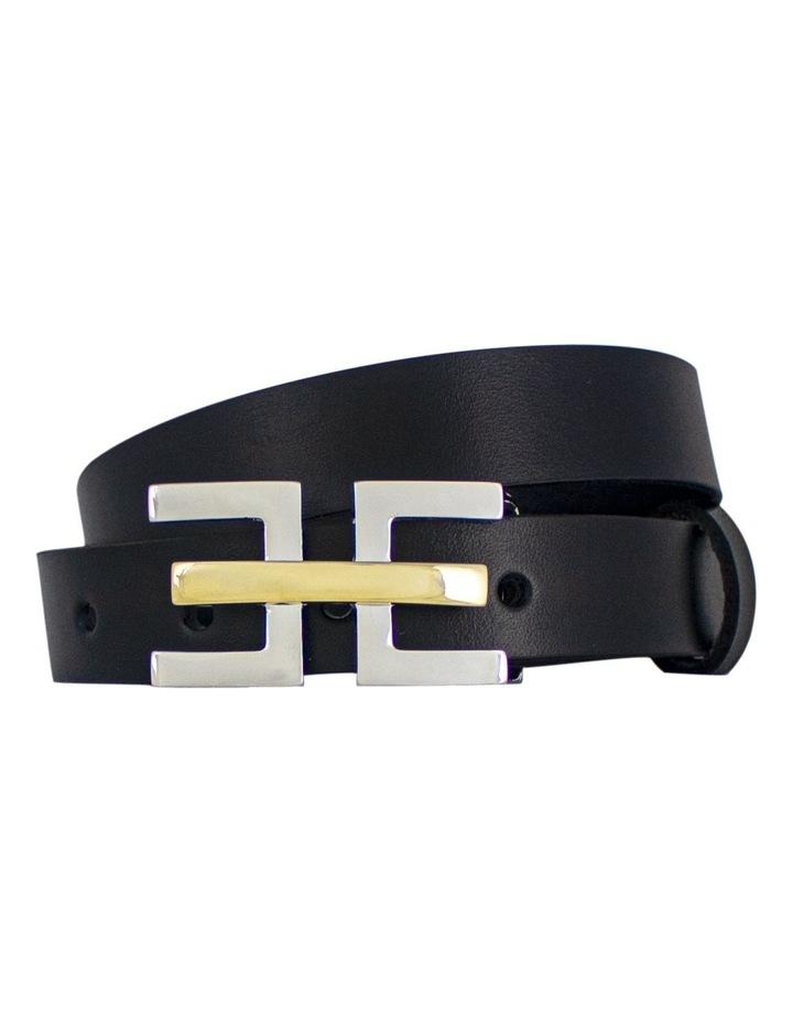 Black Genuine Leather Belt Australian Made image 1