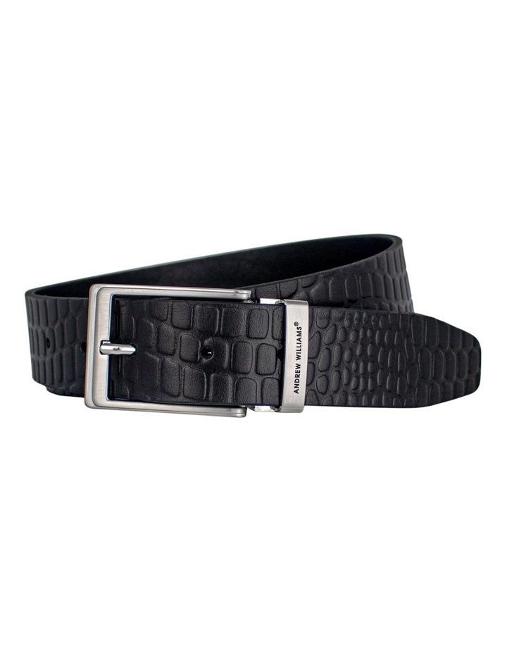 Black Genuine Italian Vegetable Tanned Leather Belt Australian Made image 1