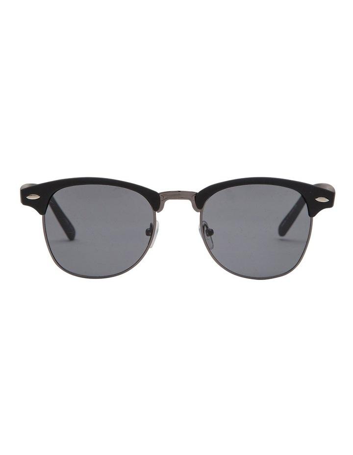 Retro Mat Black Sunglasses image 1