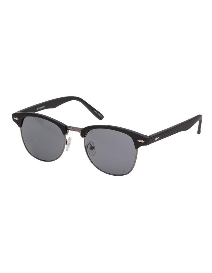 Retro Mat Black Sunglasses image 2